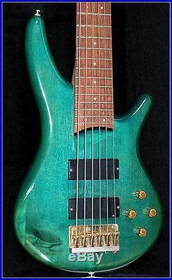ibanez sr  sdgr soundgear  string transparent green bass guitar pre owned  electric