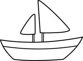 Sailboat Outline by Simple Sailboat Coloring Page Free Clip