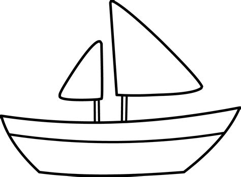 simple boat template simple sailboat coloring page free clip
