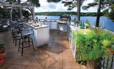 Small Outdoor Kitchen Island by 30 Outdoor Kitchen Designs Ideas Design Trends