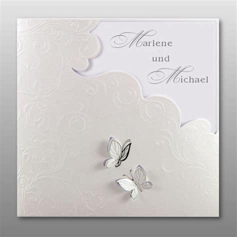 Hochzeitseinladung Schmetterling by Elegante Hochzeitseinladung Mit Fliegenden Schmetterlingen