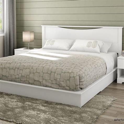 White Platform Bed Frame by King Size White Wooden Platform Bed Frame 2