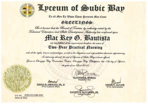 Diploma In Nursing - practical nursing diploma original