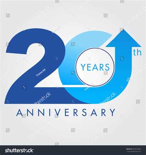 20th anniversary color template logo 20th anniversary vector