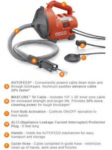 drain cleaner machine home depot ridgid auto clean k 30 sink tub and shower drain cleaner
