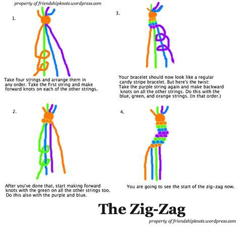 zig zag pattern friendship bracelet instructions the zig zag friendship knots