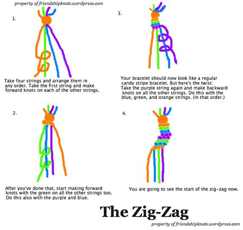 The Zig Zag   Friendship Knots