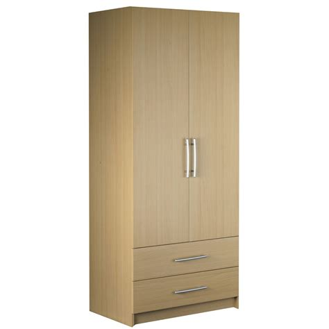 Wardrobe With 2 Doors by Standing 2 Door 2 Drawer Door Wardrobe Hpd320 Free Standing Wardrobes Al Habib Panel Doors