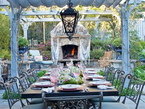 stylish  functional outdoor dining rooms hgtv