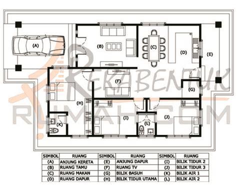 layout rumah 4 bilik design rumah b1 08 3 bilik 2 bilik air 30 kaki x 54