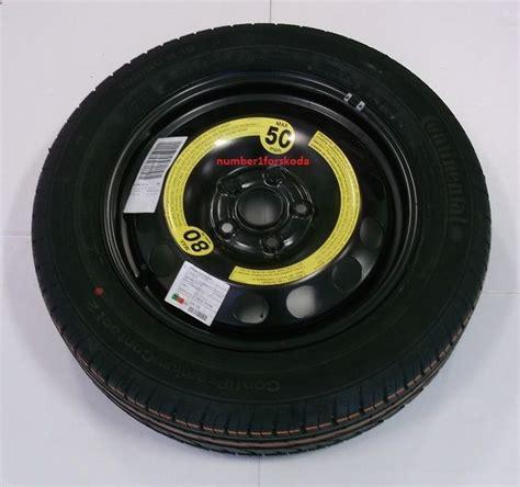 skoda genuine parts genuine skoda yeti spare wheel tyre 5l0601011a ebay