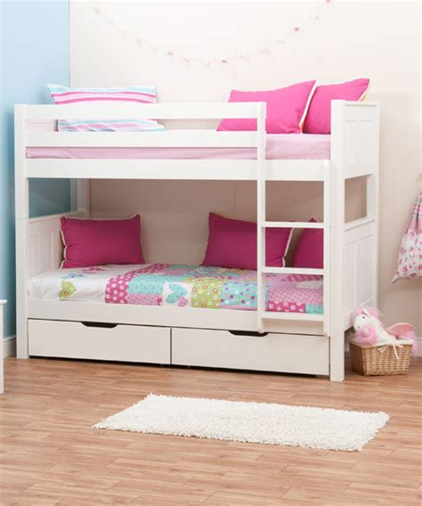 2 Bunk Beds Buy Stompa Classic White Bunk Bed With 2 Underbed Drawers Bedstar Co Uk Bedstar