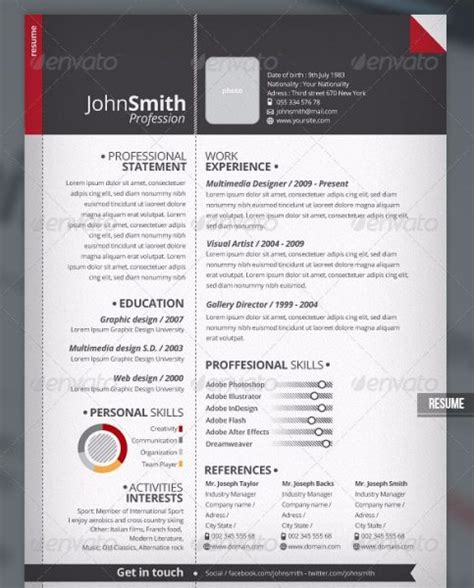 X Clean Resume Free by 28 Minimal Creative Resume Templates Psd Word Ai