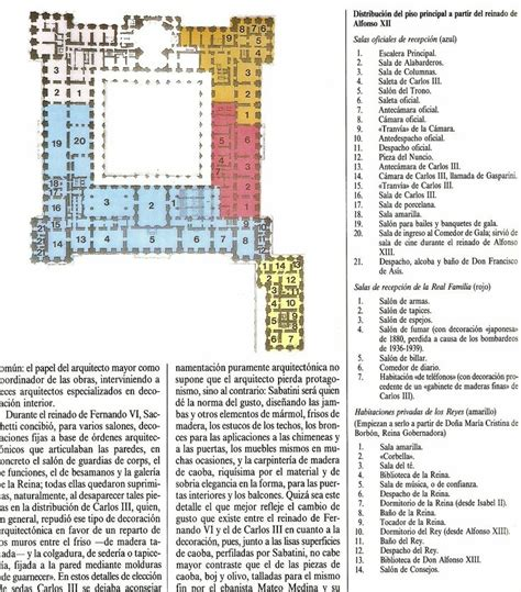 royal palace floor plans first floor plan palacio real royal palace madrid under the last king of spain alfonso