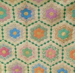antique grandmothers flower garden quilt