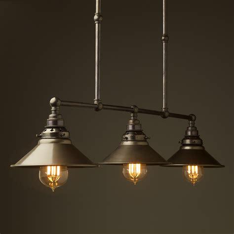 Pendant Bulb Light Bronze Edison Billiard Table Light