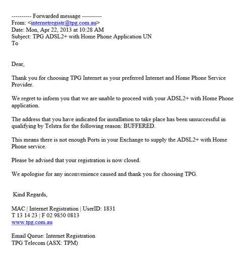 Cancellation Letter For Landline A Broadband Horror Story From Tpg Cancellation Letter For Landline Letter Sle