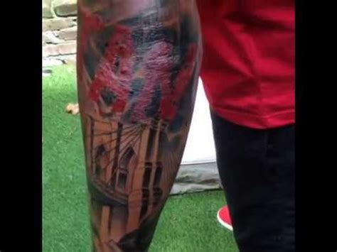 thierry henry arm tattoo finished youtube
