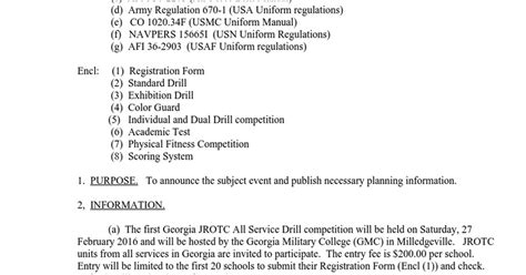 color guard commands jrotc state drill meet loi 27 feb 2016 docx