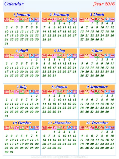 printable calendar 2018 thailand calendar2016 horizontal and vertical