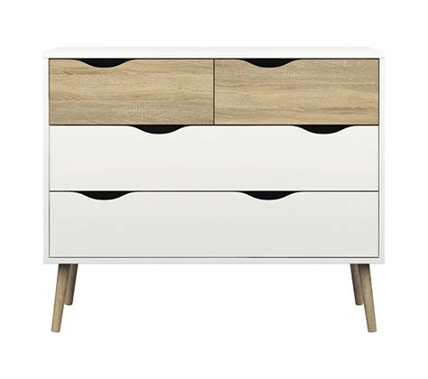 Commode But by Commode 4 Tiroirs Oslo Blanc Imitation Ch 234 Ne Commodes
