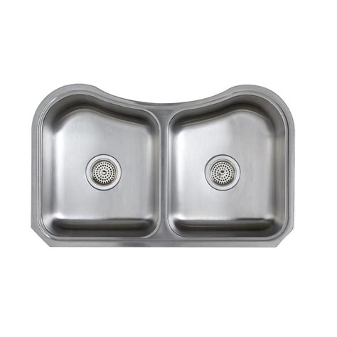 kohler staccato stainless steel kitchen sink shop kohler staccato stainless steel double basin