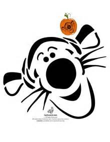 Disney Pumpkin Templates by Classic Disney Pumpkin Stencils Disney S Tigger Pumpkin