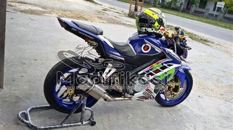 Jok Vixion Racing modifikasi yamaha new vixion lightning half fairing