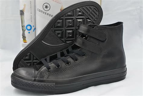 Converse Ct High New Size 9 5 43 all black all converse velcro high tops