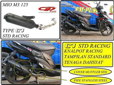 Knalpot Racing Yamaha Mio M3 Akrapovic Megaphone toko variasi 53 aksesoris motor variasi motor dan racing parts motor knalpot cld