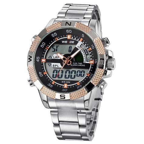 Weide Japan Quartz Stainless Led Sports 30m Water Resi 9 weide japan quartz stainless led sports