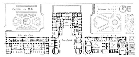palace of versailles floor plan floor plan of the ch 226 teau de versailles floor plans
