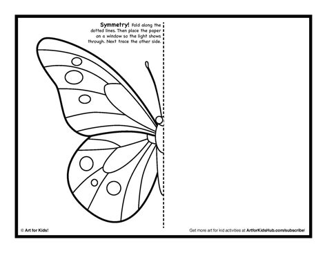 printable art worksheets symmetry art activity 5 free coloring pages art for