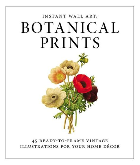 instant wall art botanical instant wall art botanical prints 45 ready to frame vintage illustrations for your home decor