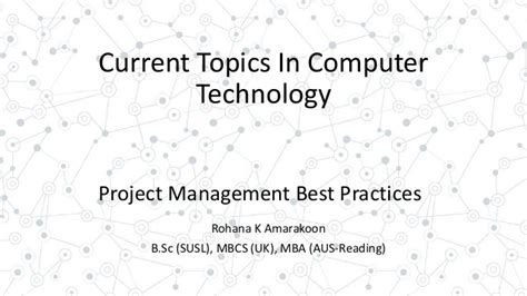 Mba Project Management Uk by Project Management Best Practices