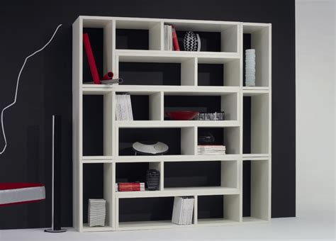 Bookshelves Modern Jigsaw Large Bookcase Modern Furniture Bookcases
