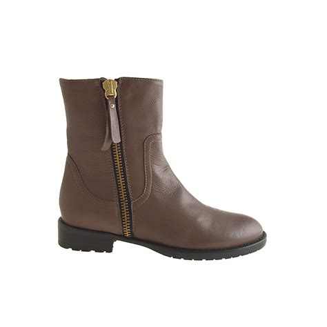 ankle boots for small or large brown leather ankle boot with zipper