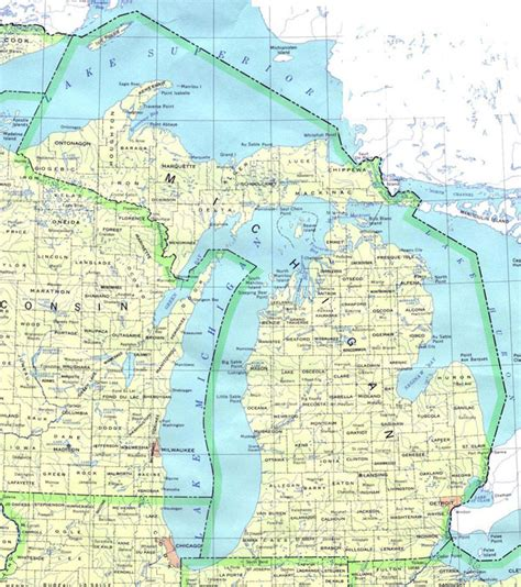 america map michigan detailed map of michigan state michigan state detailed