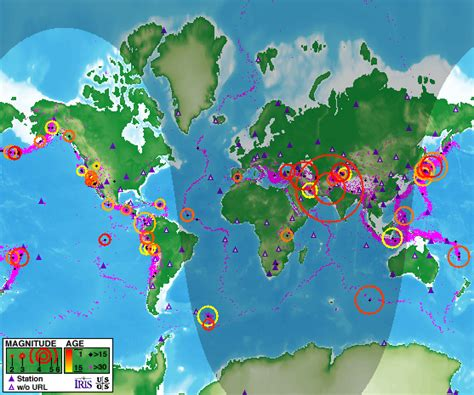 lecture on world map where do earthquakes happen