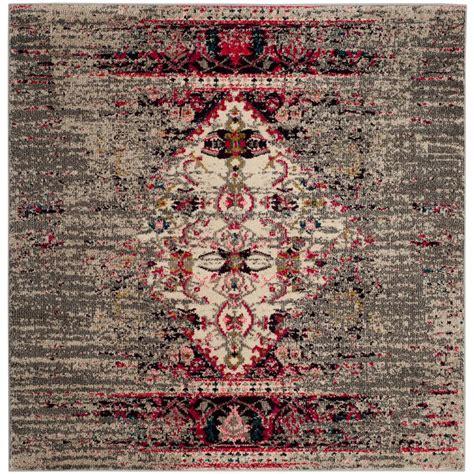 square area rugs 9 x 9 safavieh monaco gray ivory 9 ft x 9 ft square area rug