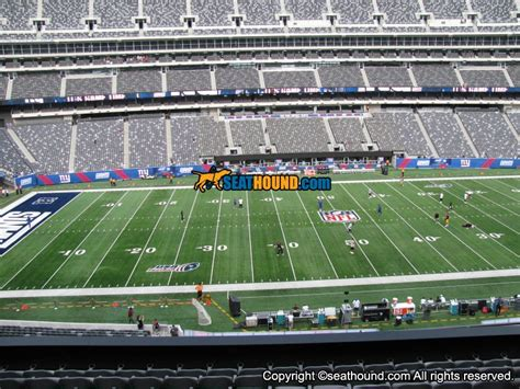 Section One Football by Metlife Stadium Section 240 Club Sideline Seating View At