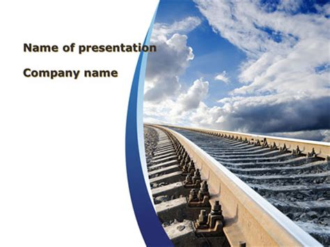 railway themes for powerpoint railway track presentation template for powerpoint and