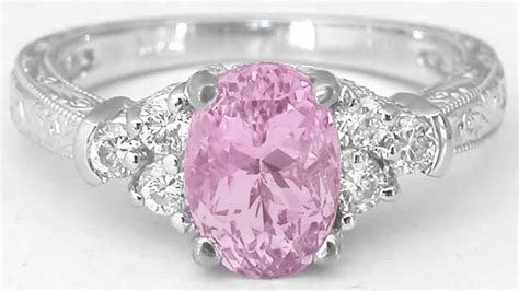 light pink sapphire ring pastel oval pink sapphire and engagement ring and