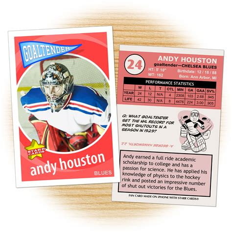 create your own hockey card template custom hockey cards retro 60 series cards