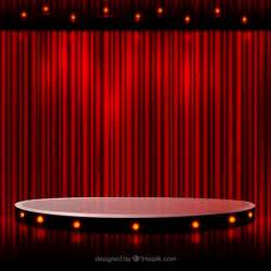 White Pedestal Round Stage Vector Free Download