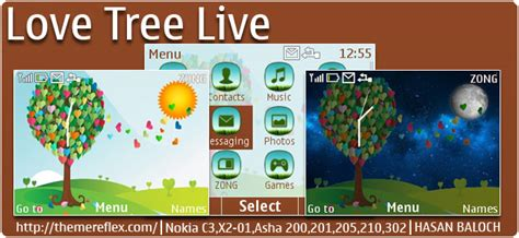 love themes for nokia c3 grass live nokia asha 303 x3 02 touch and type theme