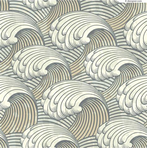 japanese pattern svg 4 designer retro waves pattern vector material