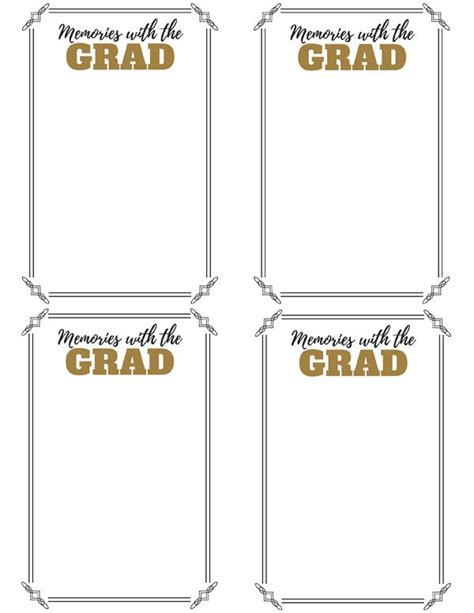 printable memory jar labels graduation party memory jar