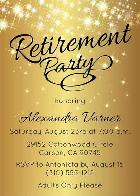 25 Best Ideas About Retirement Invitations On Pinterest Retirement Parties Retirement Retirement Luncheon Flyer Template