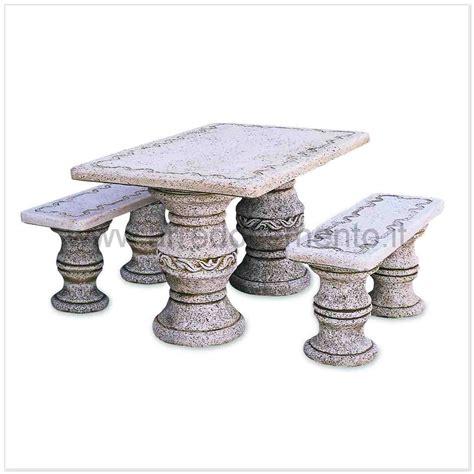 tavoli in pietra da esterno tavoli in pietra da esterno ibiza cm120x190x70h completo